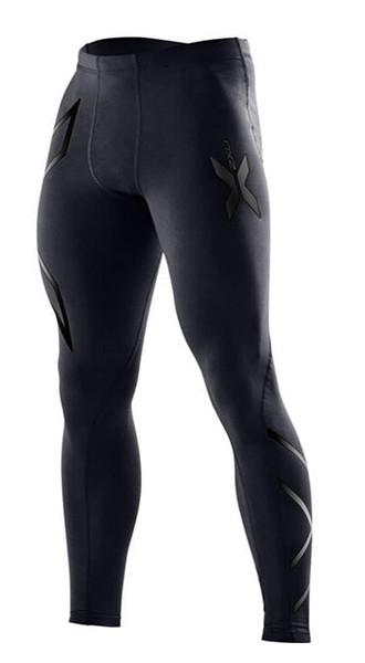 Yeni Marka Giyim erkek Sıkıştırma Tayt Pantolon Spor Giyim Pantolon Erkek Joggers Stokta Açık Sweatpants