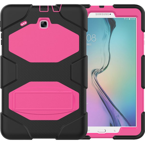 Çocuklar Güvenli Silikon Zırh Arka Kapak ile Hibrid Durumda Kickstand Samsung Galaxy Tab için E 9.6 T560 T561 Tablet + Stylus