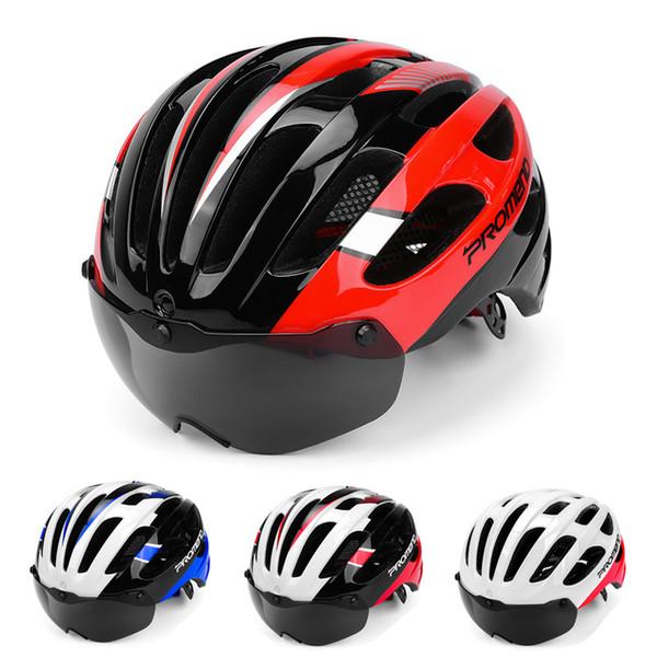 Fahrradhelm Sicherheit Mountainbike Reitausrüstung Helm Integrierte magnetische Windschutzscheibe Poröse Belüftung Rennrad