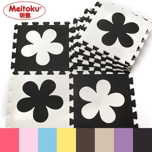 "Meitoku Flower baby EVA foam play Puzzle mat / 10pcs/lot Interlocking floor mat,Each 30cmX30cmX1CM=12""X12"" X3/8"""