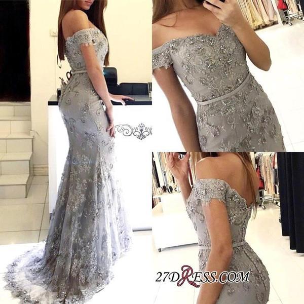 Schulterfrei Sexy Lace Mermaid Prom Dresses 2019 Taste Zurück Bodenlangen Elegante Abendkleider Abend Party Tragen Vestidos