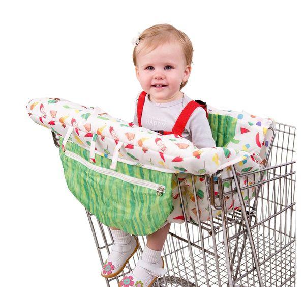 2018 Baby Shopping Cart обложки портативный младенческой складная детская подушка тележки игры мат столовая подушка обложка