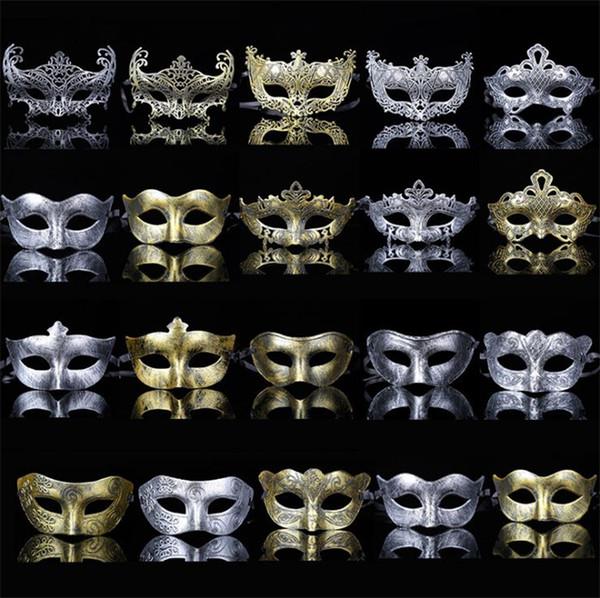 Nuova vendita calda personalità creativa plastica maschera per adulti festa party maschere maschili e femminili antiche T4H0248
