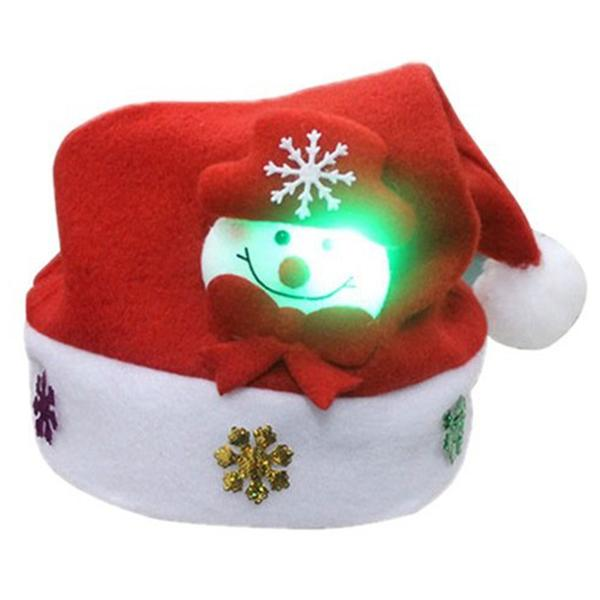 lighted christmas hats coupons snowman pattern with led lights children hat cap christmas hat 30