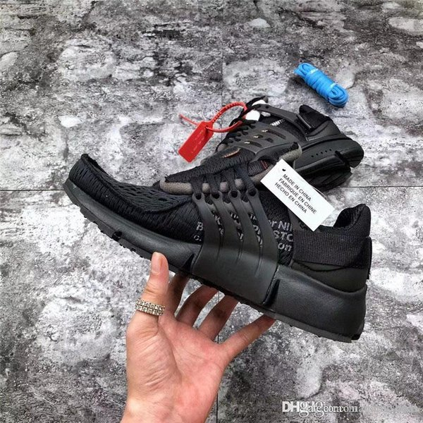 2018 Release Men Women Running Shoes Sneakers SHOELACES Presto 2.0 Black Gray white Sneakers Off AA3830-002 Size 36-45