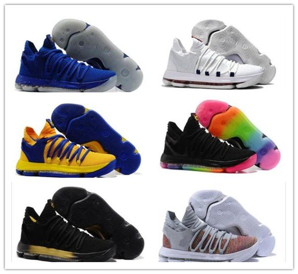 2018 Top Quality KD 10 Aunt Pearl shoes for sale Kevin Durant Basketball shoes store free shipping US7-12