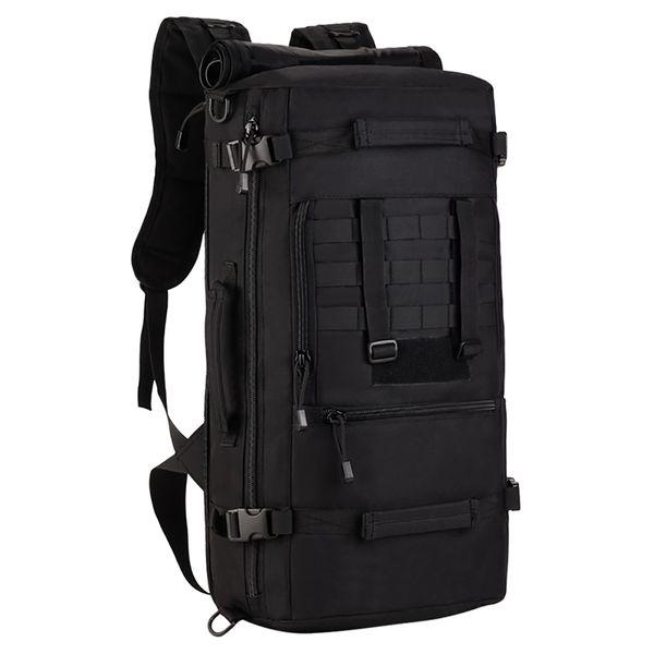 Tactical Military MOLLE Assault Pack 3 Way Modular Anhänge 50L Große Wasserdichte Tasche Rucksack Outdoor Camping Gear
