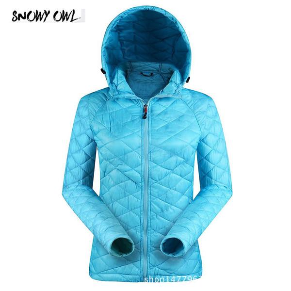 2018 New Winter Women Thermal Ultralight Down Jacket Outdoor Hooded Windproof Parka Hiking Lightweight down jacket Coat ZL26