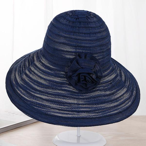 Katı Renk Zarif Büyük Ağız Şapka Kadınlar Dantel Nefes Yaz Visor Katlanabilir Şapkalar Lady UV Koruma Açık Güneş Şapka