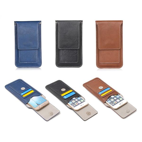 Atacado para asus zenfone 3 deluxe zs550kl / zs570kl alta qualidade telefone flip multifuncional à prova de choque bolsa de couro bolsa de telefone