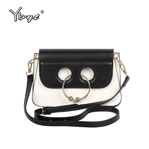 YBYT brand 2018 new women fashion casual bovine nose ring bag ladies high quality clutch female shoulder messenger crossbody bag