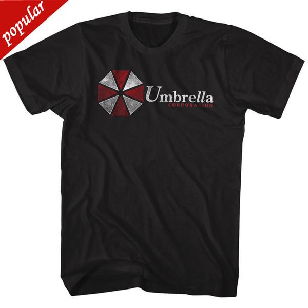RESIDENT EVIL UMBRELLA CORPORATION ZWARTE mannen Volwassen Korte Mouwen T-Shirt Gedrukt T-shirt Mannen Katoen Nieuwe Stijl
