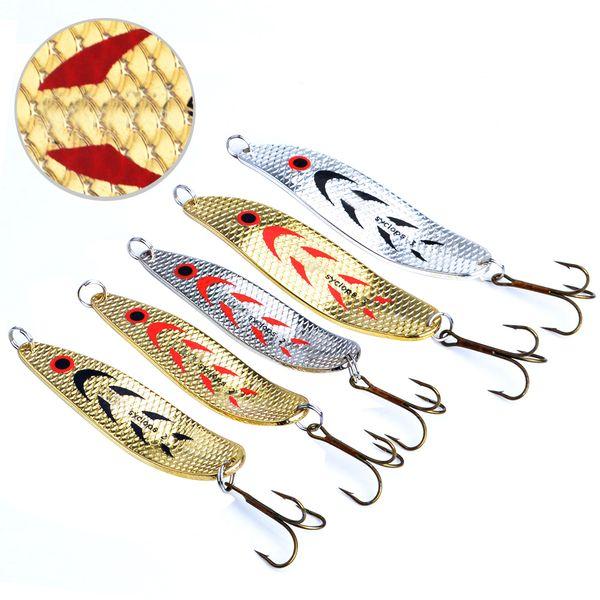 FISH KING Mepps Fishing Lure 5pcs/lot Wobbler Peche Spoon Bait Fishing Tackle China Winter Artificial Hard Fake Fish Metal