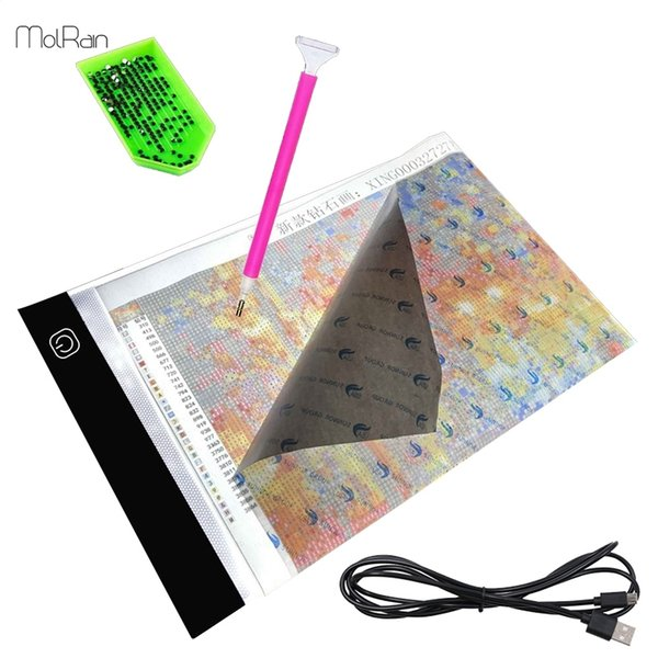 Diamond Painting Tablet Pad USB LED Light Board Ultra Thin Light Pad Light Apply to 5D Diamond Painting Artcraft Tools Decor Y18102009