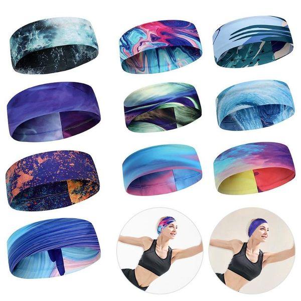 Women Men Fitness Running Sweatband Hair Bands Elastic Absorbent Sweat Cycling Yoga Sport Headband