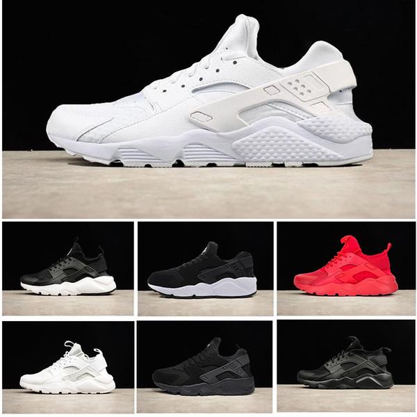 Compre NINGUNA Caja 2018 Nike Air Huarache 4 Ultra Casual Al Aire Libre Para Caminar Zapatos Para Hombres Mujeres Para Hombre Negro Blanco Huaraches