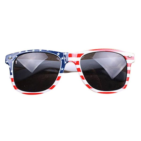 4-M Bicycle Vintage Square Novelty Mosaic Sun Glasses American Patriot Flag Unisex Polarized Cycling Sun Glasses Outdoor