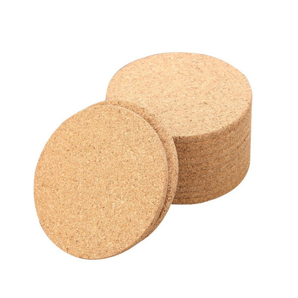 500pcs Classic Round Plain Cork Coasters Drink Wine Mats Cork Mats Drink Wine Mat ideas for wedding and party gift