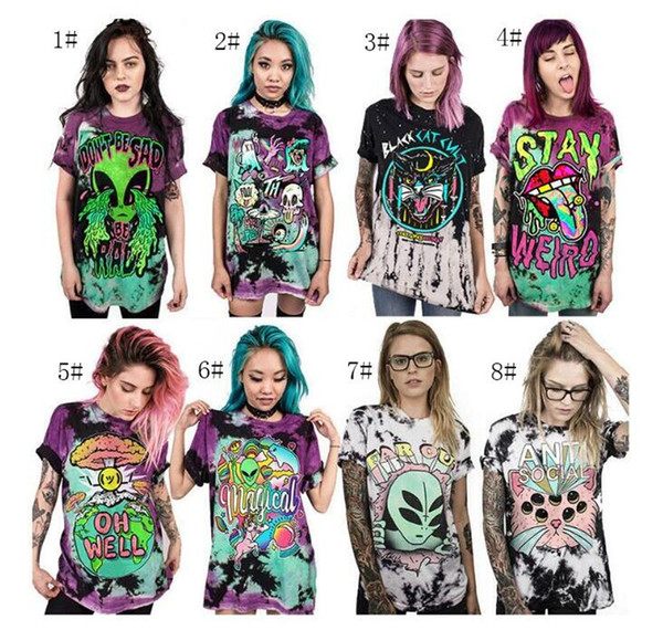 T Shirt Women Men 2018 Summer Tops 3D Digital Print Animal Cartoon Charater Alien Planet Unicorn Skull Skeleton Magic 3D T-shirts 2018 New