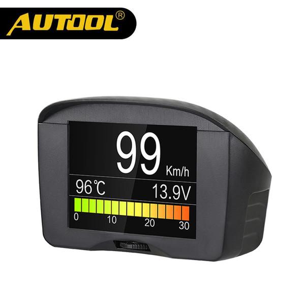 wholesale X50 Plus Multi-Function Car OBD Smart Digital Meter Alarm Water Temperature Gauge Digital Voltage Speed Meter Display