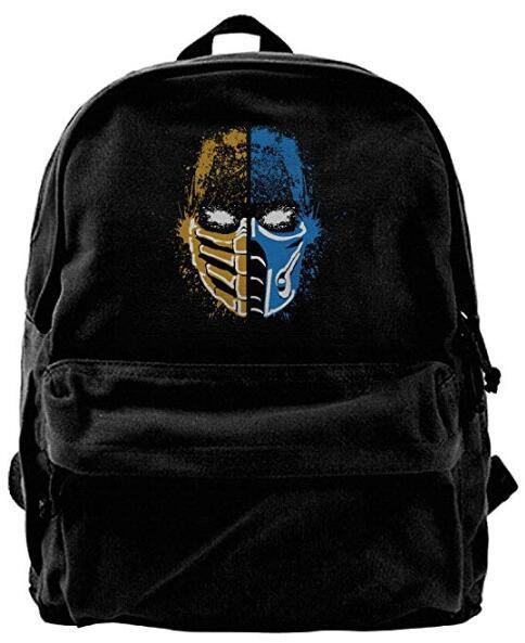 Scorpion Vs Sub-Zero Mortal Kombat Fashion Canvas Shoulder Backpack Backpack For Men & Women Teens College Travel Daypack Black