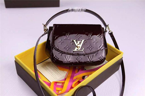Vernis leather carrying case M90945 Pasadena handbag TOP OXIDIZED REAL LEATHER ICONIC BAGS SHOULDER BAG CROSS BODY BUSINESS MESSENGER BAGS