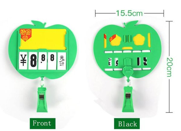 Hot sale 10sets Supermarket price tag board pop sign clip holder seafood vegetable fruit advertising frame tag display