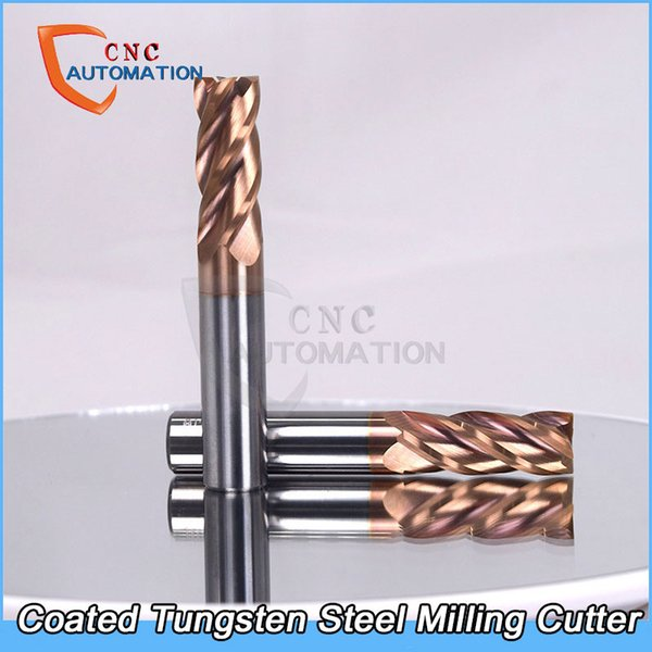 Tungsten Steel End Mill HRC60 nano alloy coated Straight Shank 4 Flute Solid Carbide CNC Milling Cutter