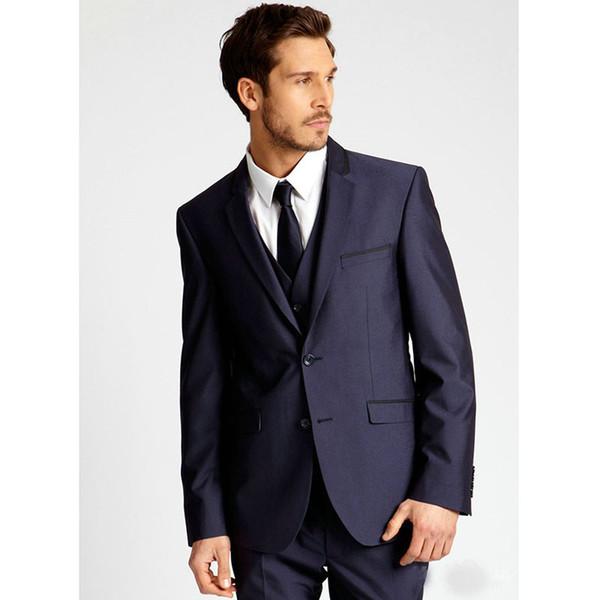 Hot Sale Handsome men suit Classic dark blue Mens Suits Slim Fit Party wedding Suits for men ( jacket+Pants+vest+tie)