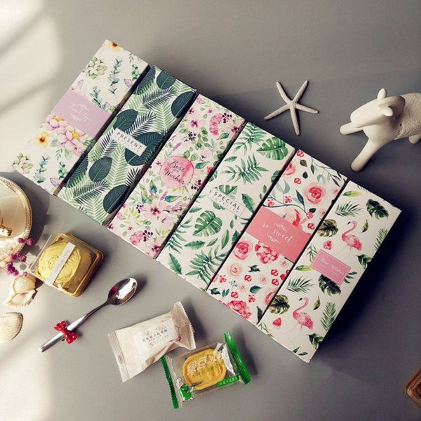 20PCS INS Flamingos Long Gift Box for Wedding Favor Packaging for Sweets and Candy Cookie box Macaron Box Presents Carton