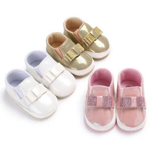 Baby Casual Shoes PU Baby Girl Boy Infant Trainers Newborn Soft Sole Girls Prewalker PU Shoes 0-18M
