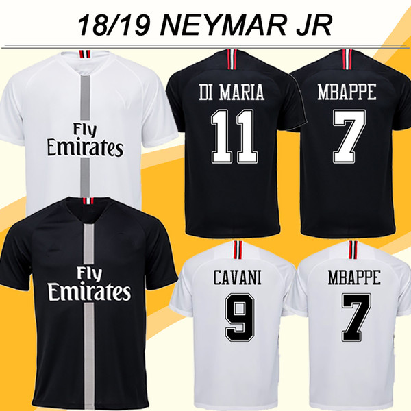 420a629dd3d 2018 19 NEYMAR JR MBAPPE Champions League Soccer Jerseys CAVANI Home Away  Mens Football Shirts Top Quality DI MARIA T.SILVA Short Uniforms