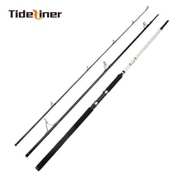 3 sections trolling boat spinning fishing rod 2.7m 3.0m 3.3m carbon fiber fishing rod for big game lure weight 40~120g