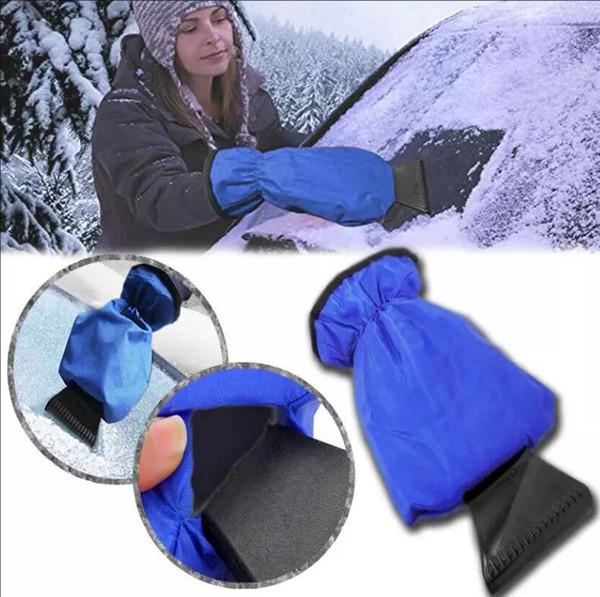 Déneigement Grattoir à glace pour voiture Enlèvement de gant Outil propre Gants chauds Grattoir à glace pour voiture Gants imperméables Racleurs pare-brise