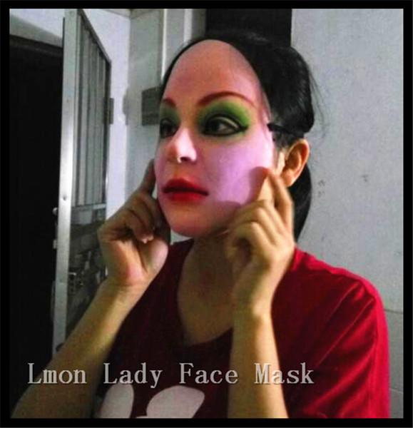 Envío gratis Fiesta Cosplay máscara femenina látex de silicona realistas máscaras de piel humana Halloween baile de disfraces Máscara de Señora de la Mujer
