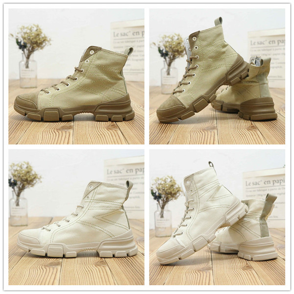 2018 New Arrival Luxury Fashion Designer Women Martin Boots Outdoor high-top Sneakers for Top quality Size 35-39