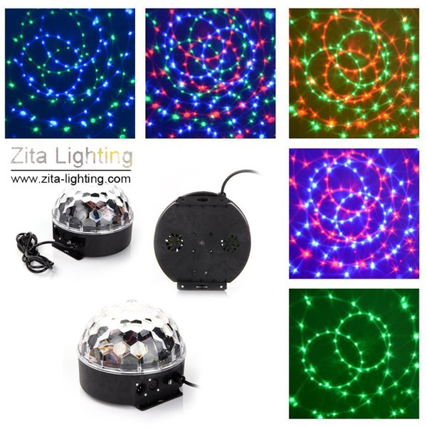 12Pcs/Lot Zita Lighting Rotating Crystal Magic Moving Ball Mini Disco RGBW LED Stage Lighting Sounds Control DMX 512 DJ Dance Party Effect