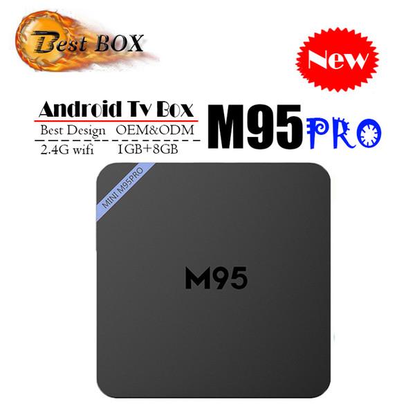 Оригинальный М95 про Android-ТВ коробка Allwinner Н3 четырехъядерных процессоров 1 ГБ 8 ГБ 4К сек. 265 1080p видео потоковое ТВ Андроид коробки лучше противоударный про RK3229 4К С8