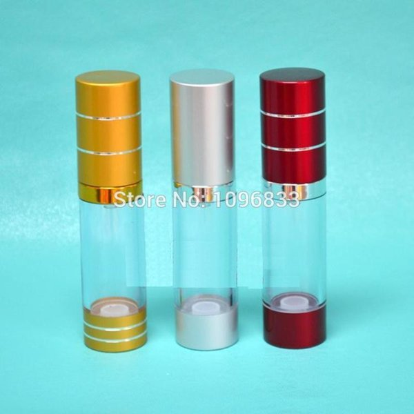 15ML Vacuum Airless Pump Bottle, 15CC Cosmetic Essence Lotion refillable Packing Bottles Lotion Nozzle Pump, 40pcs/Lot