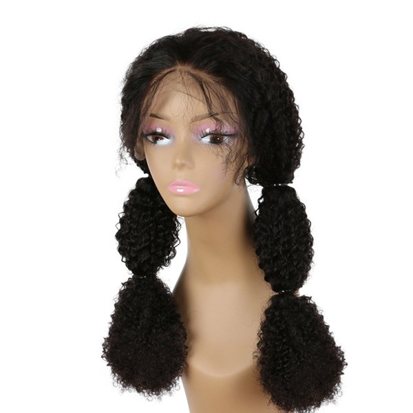 Kinky Curly Lace Frontal Wig Human Hair With Baby Hair Pre Plucked Preruvian Straight Lace Wigs For Women Full End Alot