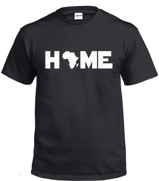 2018 Fashion Casual Men T-shirt Home Africa Black Vive Matter African Pride Hombres Mujeres Black Grey T-Shirt T-shirt