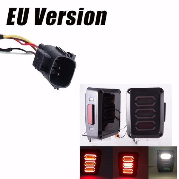 Indicatore di direzione freno per retromarcia edizione USA / EU LED Luci posteriori fanali posteriori per Jeep Wrangler JK 24 Door 2007-2017 DOT
