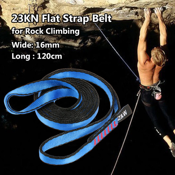 23KN/16mm 120cm/3.9ft Rope Runner Webbing Sling Flat Strap Belt for Mountaineering Rock Climbing Caving Rappelling Rescue Engineering
