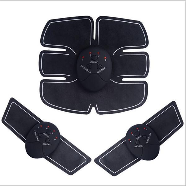 ABS Fit Muskelstimulator Bauchmuskeltrainer Elektrische Massagegerät Bauchmuskel Toner Gewichtsverlust Körper Abnehmen Massage