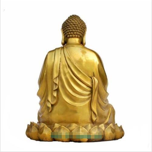"esvr Large Nice Bronze Brass Sakyamuni Gautama Amitabha Buddha Statue Figure 10""H"