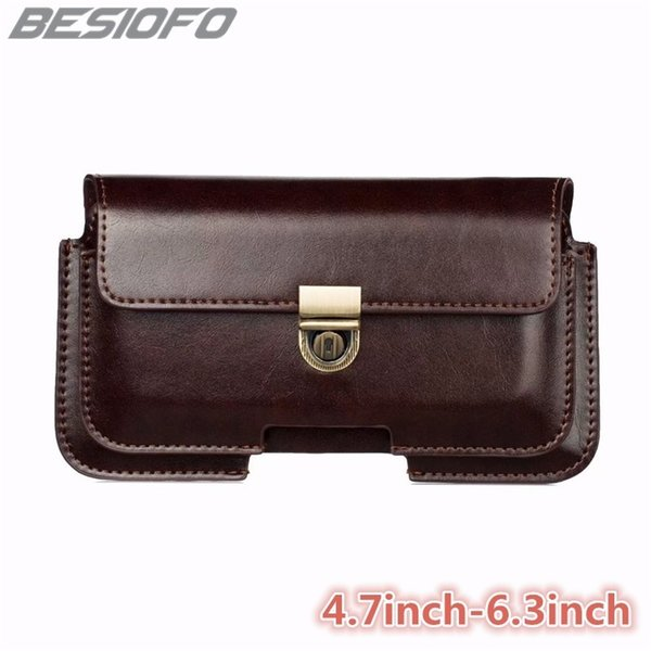 Double Pockets Bag Hook Loop Belt Pouch Holster PU Leather Cover Coque Phone Case For LG G2 G3 G4 G5 G6 G7 G8 V20 V30