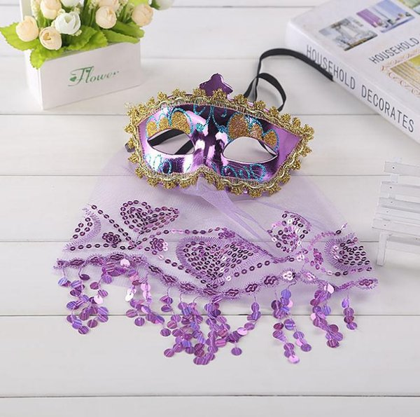 hot selling New Sexy Lace Veil Belly Dance Masks Indian Masquerade Masks SN1648