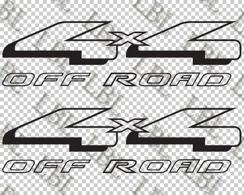 For (2Pcs)2x Ford 4x4 Off Road truck car window body vinyl decal sticker 14""