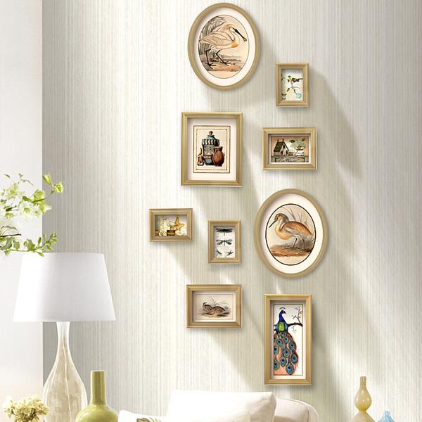 Compre Marcos De Cuadros Para Cuadros Marco De Madera Para La Decoración De La Boda Marco De Fotos Set Wall Pictures For Living Room Retrato De