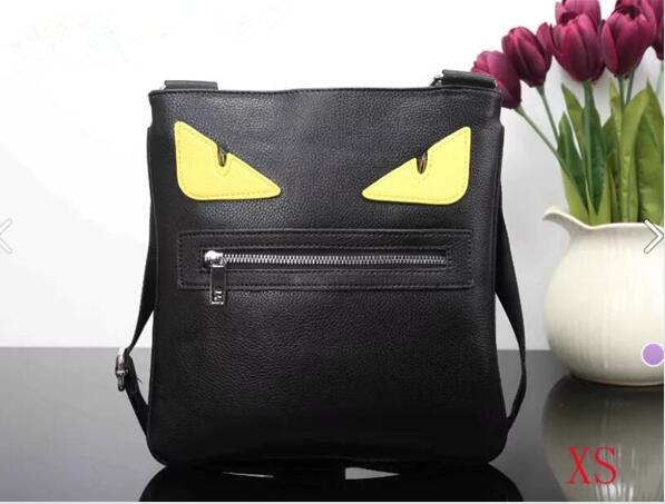 best selling Mens Briefcase Business Bags Casual Business PU Leather Mens Messenger Bag Vintage Men's Crossbody Bag Bolsas Black Yellow eyes Shoulder Bag